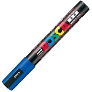 【送料無料】(業務用200セット) 三菱鉛筆 ポスカ/POP用マーカー 【中字/青】 水性インク PC-5M.33
