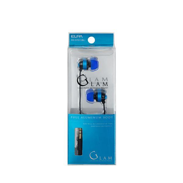 (業務用セット) ELPA カナル型ステレオヘッドホン ブルー 1.2m RD-ST01(BL) 【×10セット】