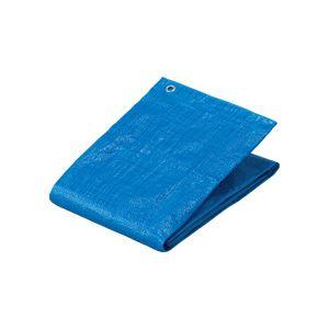 【送料無料】(まとめ) TANOSEE 軽量ブルーシート アルミハトメ 3500×5300mm 1枚 【×5セット】:ワールドデポ