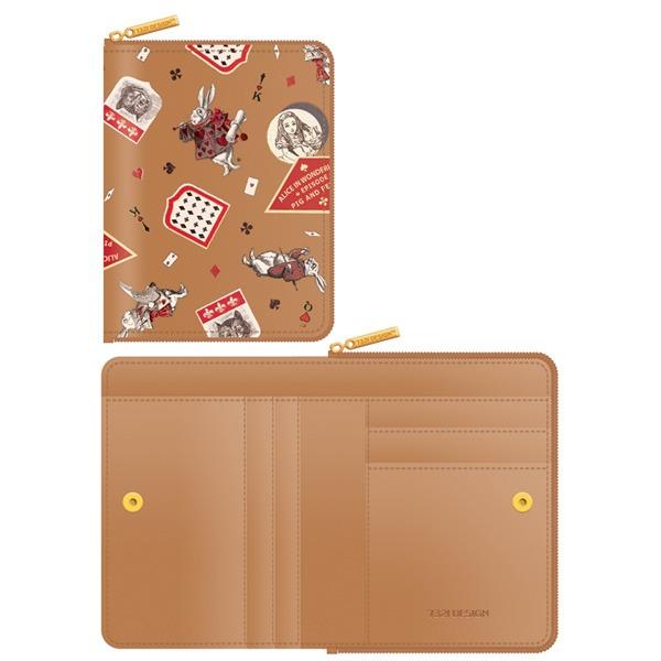 7321Design(7321デザイン) 可愛いギフトボックスに入った小銭入れ付ミニ財布/アリス/ラベル(ベージュ)