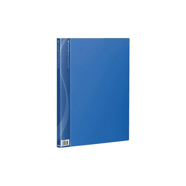 【送料無料】(業務用セット) B4クリアブック 20ポケット ベーシックカラー CB1022B-N ブルー【×10セット】