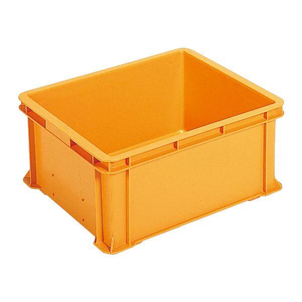 【送料無料】(業務用5個セット)三甲(サンコー) ベタ目コンテナボックス/サンボックス 45 オレンジ 【代引不可】
