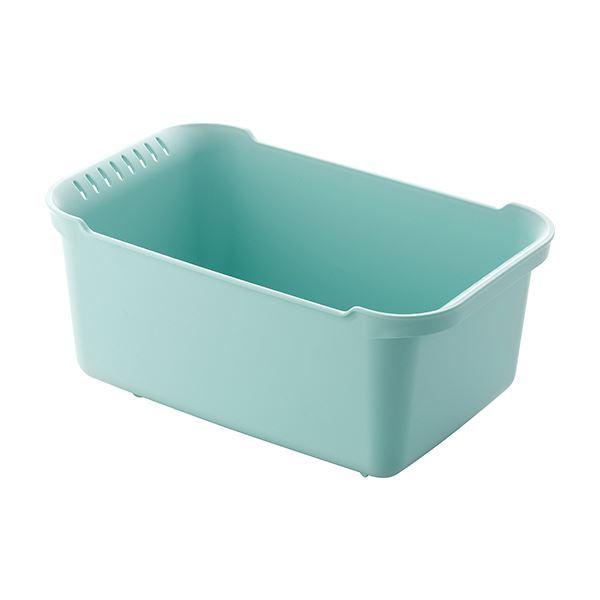 【送料無料】【8セット】 ウォッシュタブ/洗い桶 【ブルーグリーン】 36×22×16.5cm 本体:PP 『リベラリスタ』【代引不可】