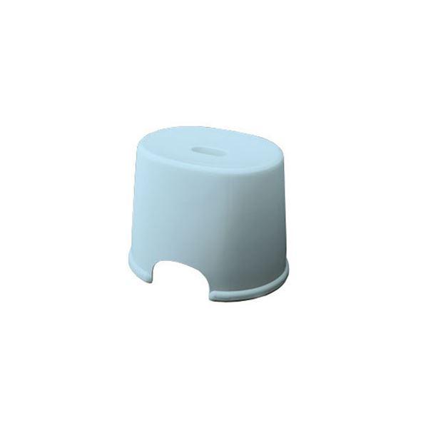 【送料無料】【20セット】 シンプル バスチェア/風呂椅子 【250 ブルー】 すべり止め付き 材質:PP 『HOME&HOME』【代引不可】