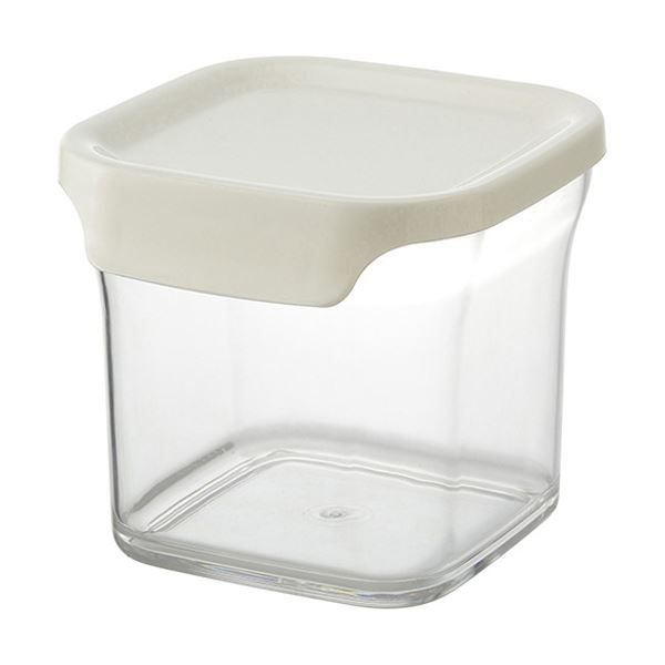 【送料無料】【30セット】 キャニスター/保存容器 【Mサイズ ホワイト】 容量:630ml 『リベラリスタ』【代引不可】