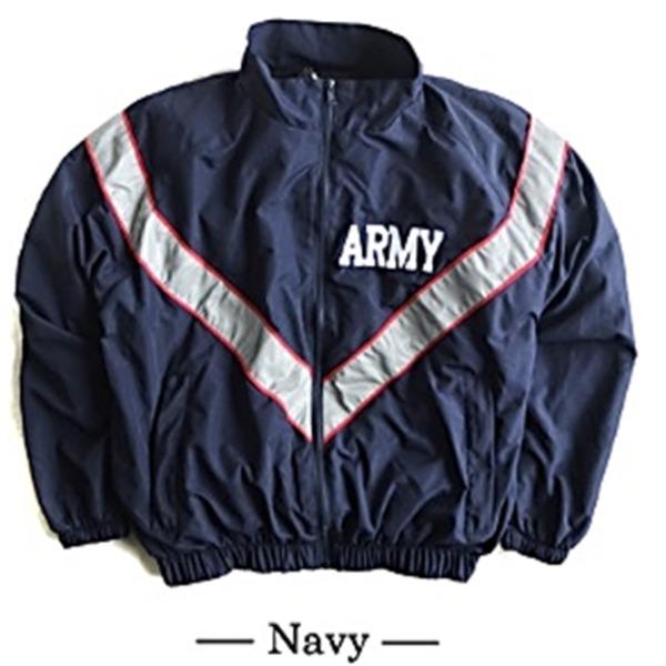 【送料無料】US ARMY IPFU 防風撥水加工大型リフレクタージャケットレプリカ ネイビー M