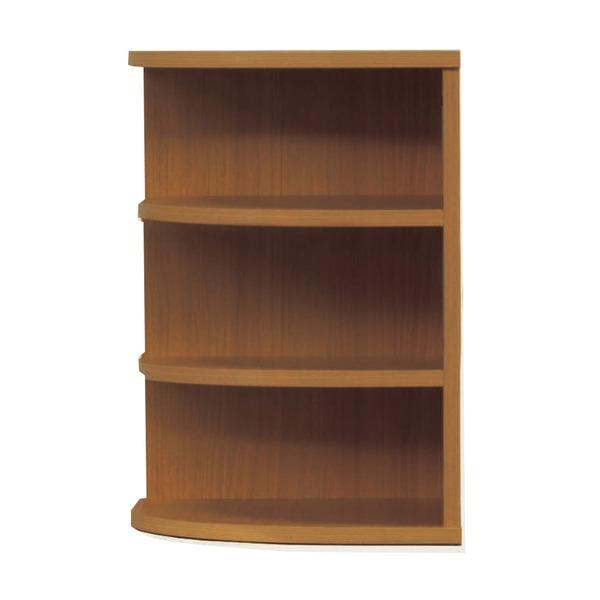 オープンエンド/オープンシェルフ 【幅43cm】 木製(天然木) 日本製 ブラウン 【完成品 開梱設置】【代引不可】