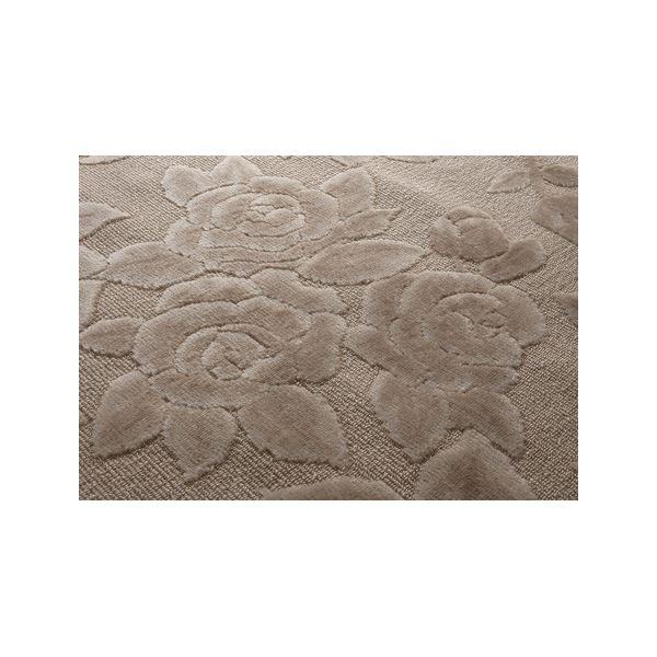 【送料無料】抗菌・防ダニカーペット/絨毯 【8畳用 352cm×352cm】 フリーカット可 バラ柄 日本製 ベージュ【代引不可】