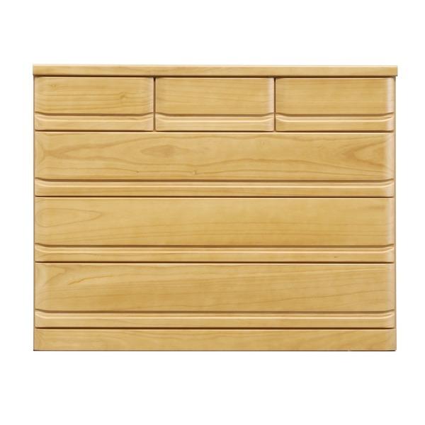 【送料無料】ローチェスト/収納棚 【4段/幅120cm】 ナチュラル 『クエスト』 木製 長引出フルオープンレール付き【代引不可】