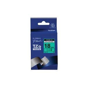 【送料無料】(業務用30セット) brother ブラザー工業 文字テープ/ラベルプリンター用テープ 【幅:18mm】 TZe-741 緑に黒文字