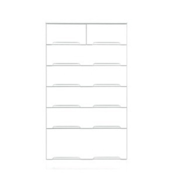 【送料無料】ハイチェスト 6段 【幅70cm】 スライドレール付き引き出し 日本製 ホワイト(白) 【完成品 開梱設置】【代引不可】