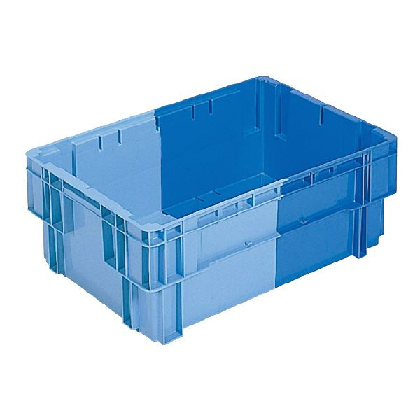【送料無料】(業務用5個セット)三甲(サンコー) SNコンテナ/2色コンテナボックス 【Bタイプ】 #44 ブルー×ライトブルー 【代引不可】