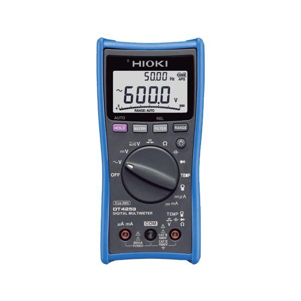 日置電機 デジタルマルチメータ(温度、直流電流(mA/uA) DT4253【代引不可】