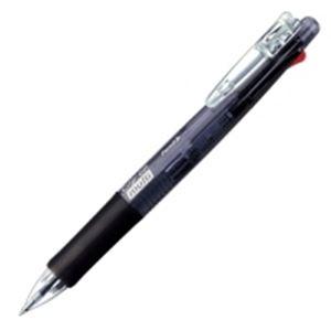 【送料無料】(業務用100セット) ZEBRA ゼブラ 多機能ペン クリップオンマルチ 【シャープ芯径0.5mm/ボール径0.7mm】 ノック式 B4SA1-BK 黒