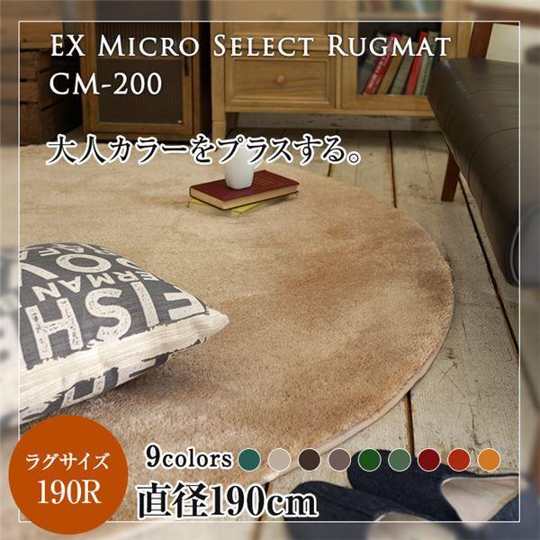 【送料無料】レトロモダン マイクロセレクトラグマット(CM200) 190cm正円 レンガ【代引不可】