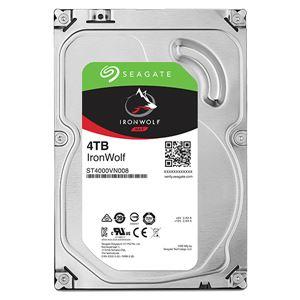【送料無料】Seagate Guardian IronWolfシリーズ 3.5インチ内蔵HDD 4TB SATA 6.0Gb/s5900rpm 64MB