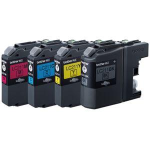 【送料無料】(まとめ) ブラザー BROTHER インクカートリッジ お徳用 4色 LC211-4PK 1箱(4個:各色1個) 【×3セット】