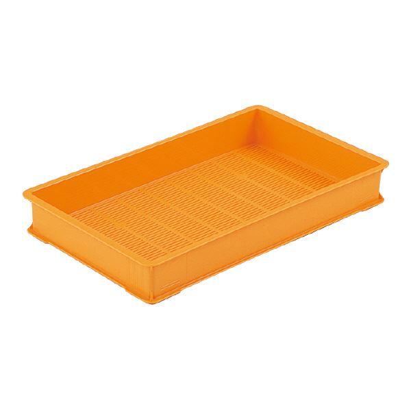 【送料無料】(業務用10個セット)三甲(サンコー) 麺用コンテナボックス 【袋入り生麺 保管・配送用】 3型-K オレンジ 【代引不可】