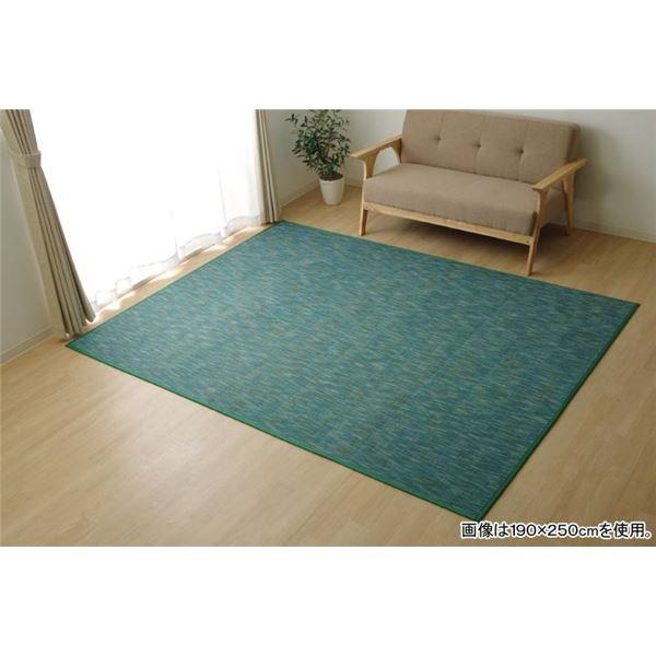 【送料無料】バンブー ラグマット/絨毯 【グリーン 約190×250cm】 竹製 無地 抗菌作用 高耐久性 『DXフォース』 〔リビング〕