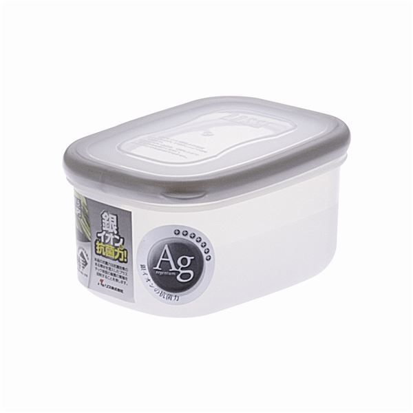 【送料無料】【100セット】 保存容器/パッセハード 【WA-1 シルバー】 外寸:7.7cm×10.7cm×5.6cm 本体:PP 〔キッチン用品 収納容器〕【代引不可】