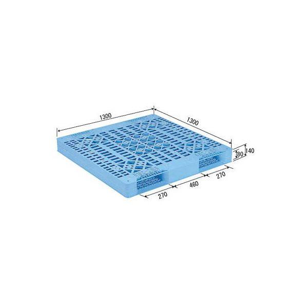 三甲(サンコー) プラスチックパレット/プラパレ 【両面使用型】 リンゴ用パレット 段積み可 R2-1313 ライトブルー(青)【代引不可】