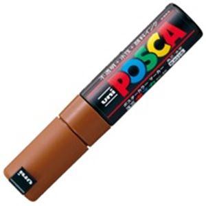 【送料無料】(業務用200セット) 三菱鉛筆 ポスカ/POP用マーカー 【太字/茶】 水性インク PC-8K.21