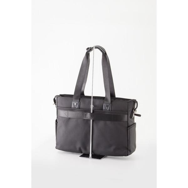 【送料無料】ビジネスバッグ/トートバッグ 【ブラック】 H32×W43×D14cm A3サイズ
