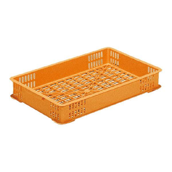 【送料無料】(業務用10個セット)三甲(サンコー) 麺用コンテナボックス 【関東型麺コンテナ】 1型 PP オレンジ 【代引不可】