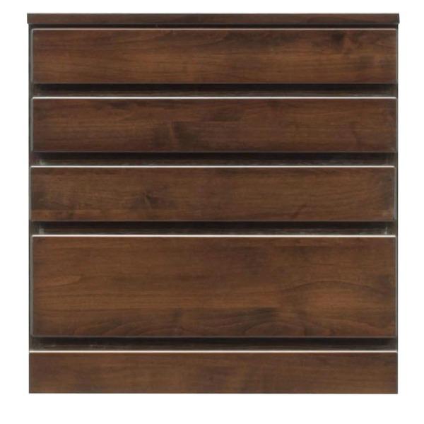 【送料無料】4段チェスト/ローチェスト 【幅60cm】 木製(天然木) 日本製 ダークブラウン 【完成品 開梱設置】【代引不可】
