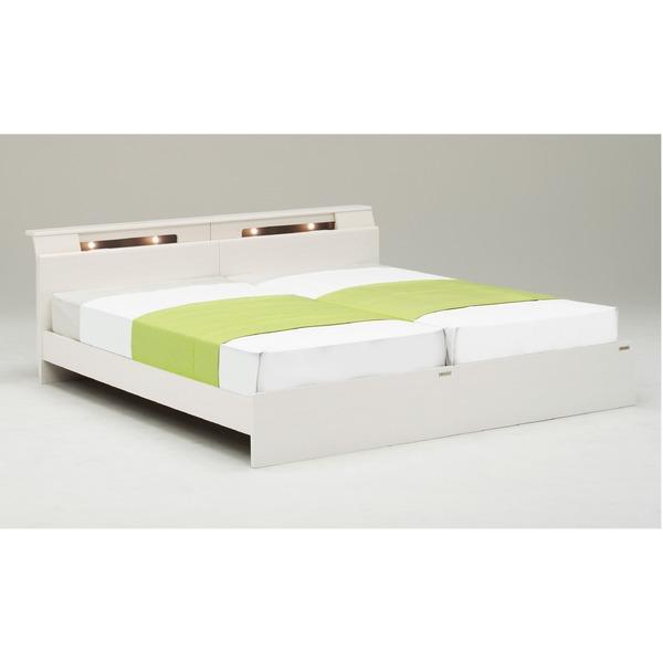 【送料無料】シングルベッド【ベッドフレームのみ】2台セット【ディオラ】 (シングル右+シングル左・ホワイト) グランツ GLANZ【代引不可】