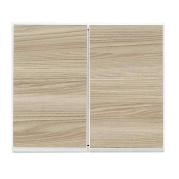 上置き(ダイニングボード/レンジボード用戸棚) 幅50cm 日本製 ブラウン 【完成品】【開梱設置】【代引不可】