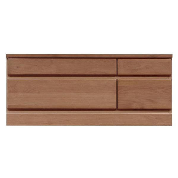 【送料無料】2段チェスト/ローチェスト 【幅90cm】 木製(天然木) 日本製 ブラウン 【完成品 開梱設置】【代引不可】