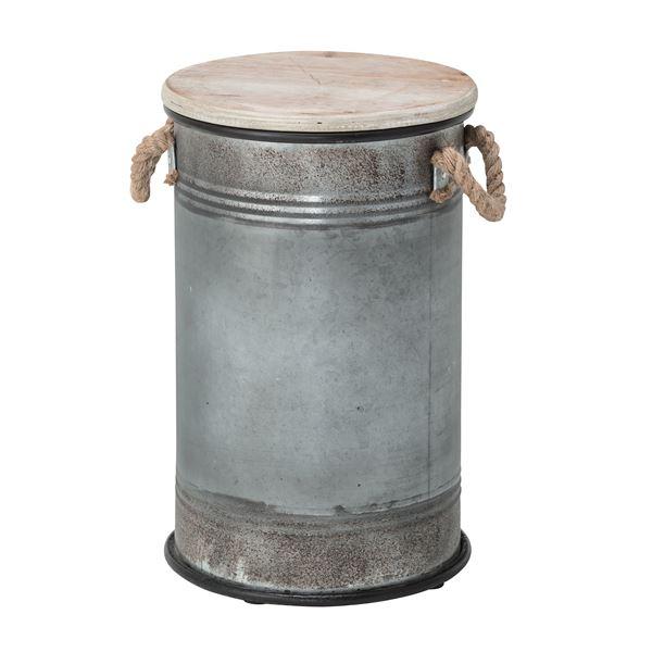 【送料無料】(4脚セット) スツール缶 スチール ELF-337