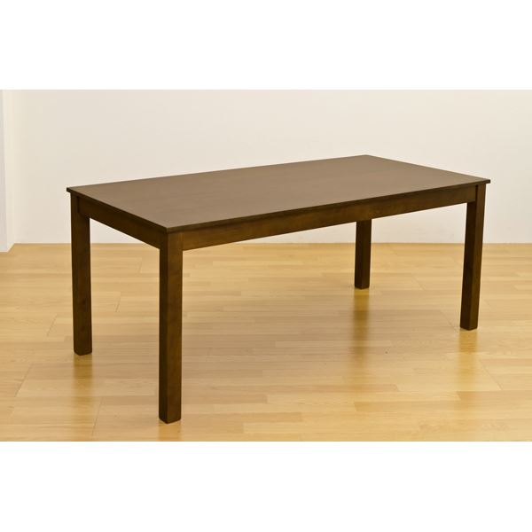 【送料無料】フリーテーブル(ダイニングテーブル/リビングテーブル) 長方形 幅165cm×奥行80cm 木製 ダークブラウン【代引不可】
