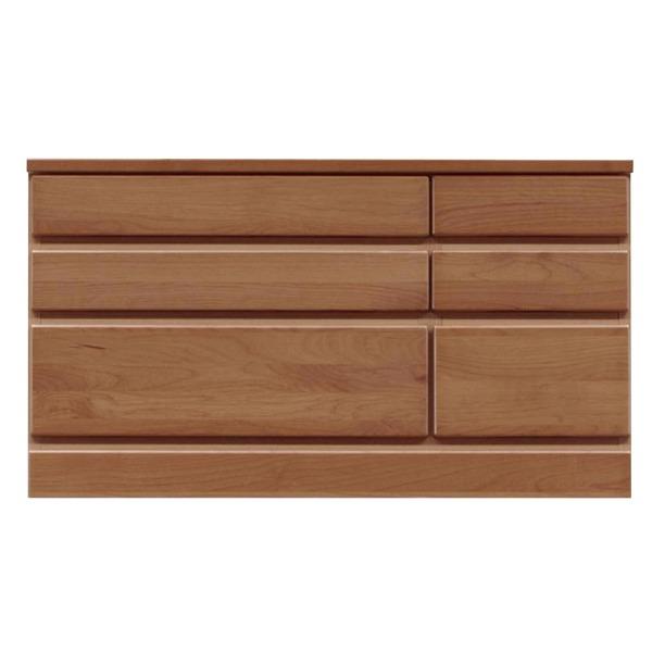 【送料無料】3段チェスト/ローチェスト 【幅90cm】 木製(天然木) 日本製 ブラウン 【完成品 開梱設置】【代引不可】