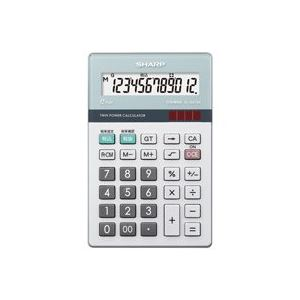【送料無料】(業務用30セット) シャープ SHARP 環境配慮電卓 ナイスサイズ EL-N412K