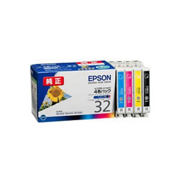 【送料無料】(業務用3セット) 【純正品】 EPSON エプソン インクカートリッジ/トナーカートリッジ 【IC4CL32 4色パック】