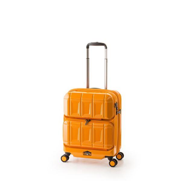 【送料無料】スーツケース 【オレンジ】 36L 機内持ち込み可 ダブルフロントオープン アジア・ラゲージ 『PANTHEON』