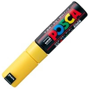 【送料無料】(業務用200セット) 三菱鉛筆 ポスカ/POP用マーカー 【太字/黄】 水性インク PC-8K.2