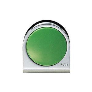 【送料無料】(業務用100セット) プラス カラーマグネット クリップ 大 緑