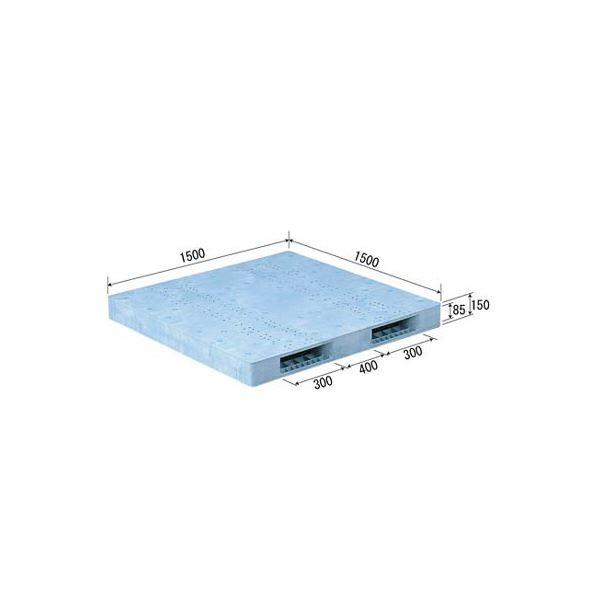 【送料無料】三甲(サンコー) プラスチックパレット/プラパレ 【両面使用型】 段積み可 R2-1515F ライトブルー(青)【代引不可】