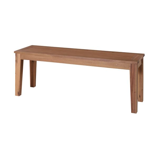 【送料無料】木製ベンチ椅子/ベンチチェア 【幅134cm×奥行35cm】 アカシア材オイル仕上げ 『アルンダ』