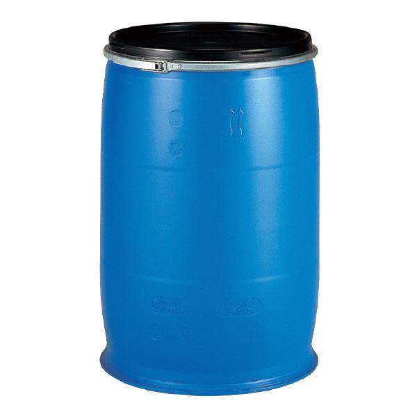 【送料無料】三甲(サンコー) 液体輸送用プラスチックドラム 【オープンタイプ】 PDO 200L-2 UN認定 ブルー(青)【代引不可】