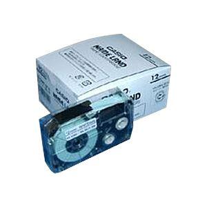 【送料無料】(業務用セット) カシオ ネームランド用テープカートリッジ スタンダードテープ 8m 5巻入 XR-12WE-5P-E 白 黒文字 【×2セット】