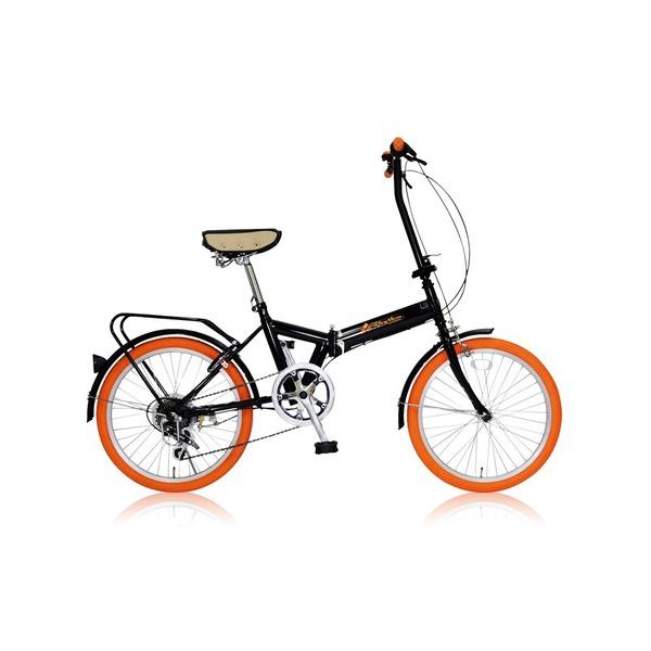 【送料無料】折りたたみ自転車 20インチ/オレンジ シマノ6段変速 【MIWA】 ミワ FD1B-206【代引不可】