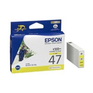 【送料無料】(業務用40セット) EPSON エプソン インクカートリッジ 純正 【ICY47】 イエロー(黄)