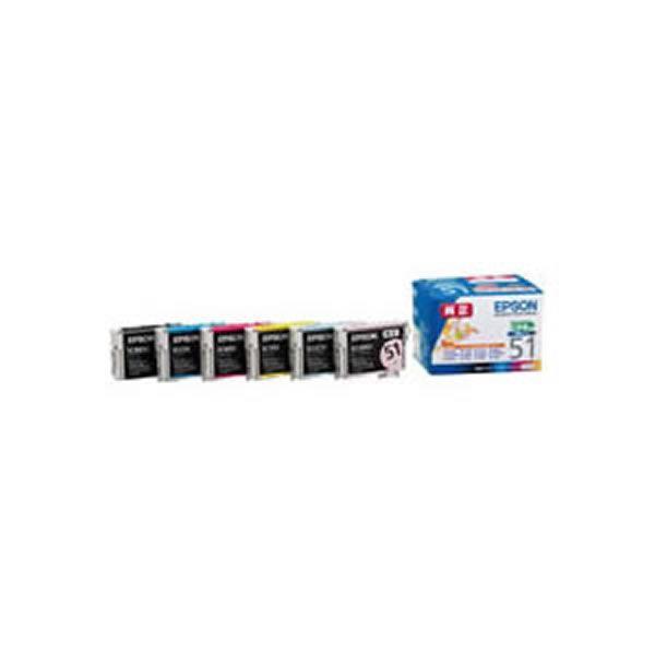 【送料無料】【業務用2セット】【純正品】 EPSON エプソン インクカートリッジ/トナーカートリッジ 【IC6CL51 6色パック】 ×2セット