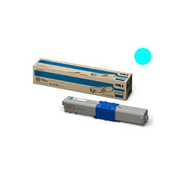 【送料無料】(業務用3セット) 【純正品】 OKI 沖データ トナーカートリッジ 【TNR-C4JC1 C シアン】