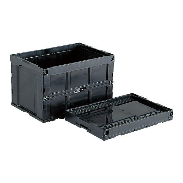 【送料無料】三甲(サンコー) 折りたたみコンテナボックス/オリコン 【96L】 導電 95B-S【2】 ブラック(黒) 【代引不可】