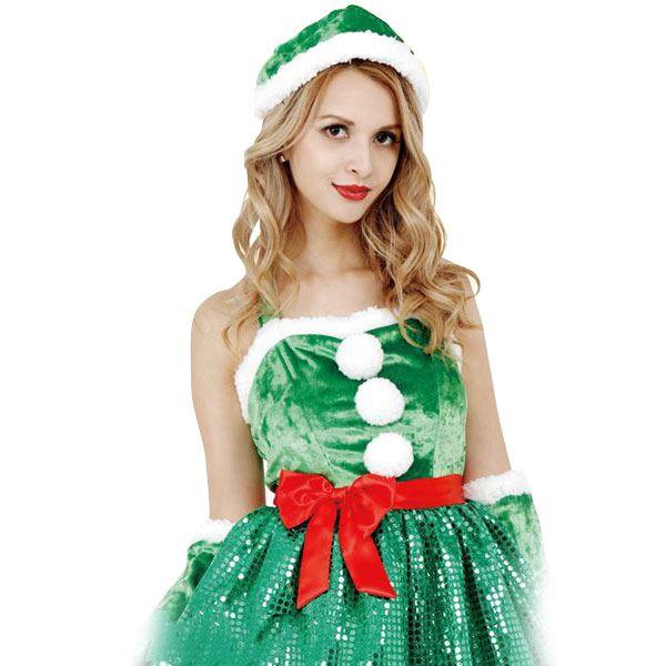【送料無料】コスプレ衣装/コスチューム 【Tree Girl Dress ツリーガールドレス】 ワンピース型 『CLUB QUEEN』 〔ハロウィン イベント〕